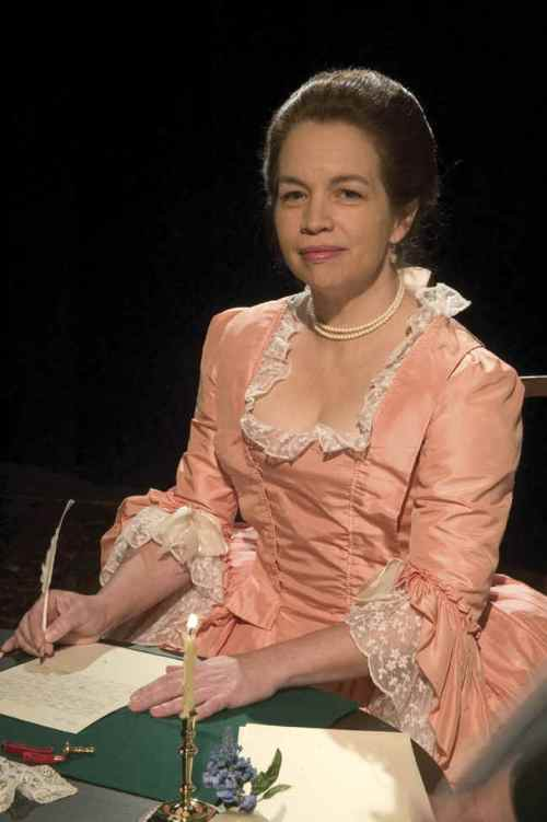 Abigail Schmann in her portrayal of Abigail Adams